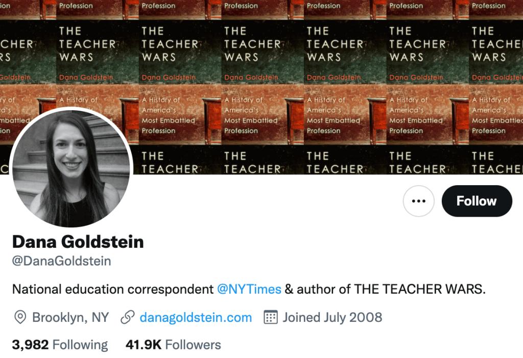Dana Goldstein - Top education journalists