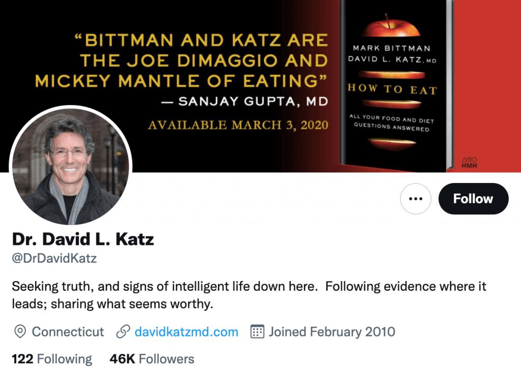 David Katz - Top healthcare journalist
