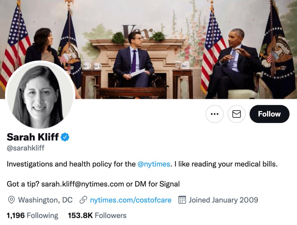 Sarah Kliff - Top healthcare journalists